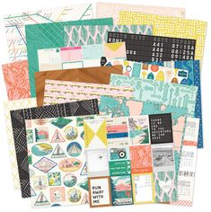 The beautiful, colorful papers from the new Here + There collection!