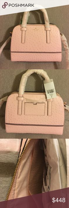 """Kate spade river street ostrich purse Kate spade river street ostrich purse. NWT. Comes with detachable and adjustable strap. 8.4""""h x 10.3""""w x 4.5""""d kate spade Bags"""