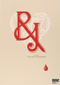 'Romeo & Juliet' typographic Shakespeare poster for RSC - Lauren Heath