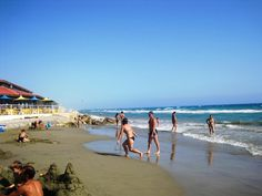 To the left is our favourite beach taverna - Kourion Beach Taverna with the ever smiling Marinos. Take a visit one day!