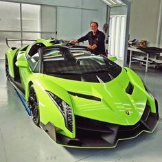 The Lamborghini Huracan was debuted at the 2014 Geneva Motor Show and went into production in the same year. The car Lamborghini's replacement to the Gallardo. The Huracan is available as a coupe and a spyder. Lamborghini Veneno, Lamborghini Vert, Carros Lamborghini, Lamborghini Diablo, Koenigsegg, Pagani Zonda, Exotic Sports Cars, Exotic Cars, Sexy Autos