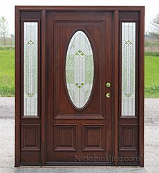 Oval Glass Front Doors With Sidelights N300 Builder