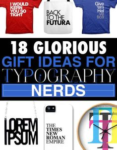 18 Glorious Gift Ideas For Typography Addicts