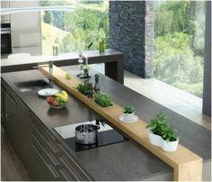 Kitchen countertop of granite
