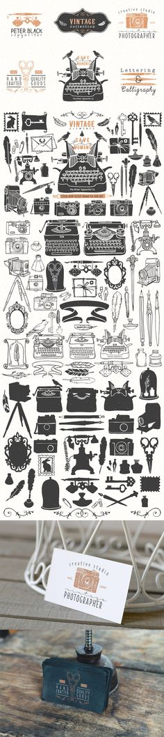 Vintage Hand Drawn Illustrations by Kite Kit | The Comprehensive, Creative Vectors Bundle Mar 2015 from Design Cuts
