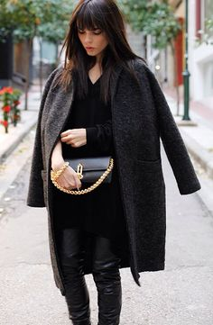 Never tired of all black #fashion #style #streetchic