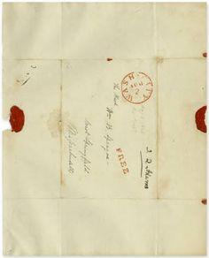 "Wax Seal, Free Frank ""J.Q. Adams"", 1828. President John Quincy Adams."