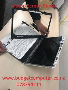 laptop screen repair is as easy as 123 yes you can do it yourself but if you are not confident enough bring it to budget conputer hamilton at 85 victoriaa street hamilton or call 038394111 for DIY read further here http://www.budgetcomputer.co.nz/blog/laptop-screen-repair/