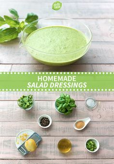 Cure your salad woes with these three simple and flavorful dressing recipes. Check out more on blog.hellofresh.com!