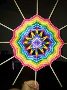 On the way Beautiful Things, Rainbow, Colours, Creative, Gods Eye, Mandalas, Rain Bow, Rainbows