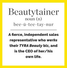 Now you know. ;) #TYRABeauty #Beautytainer