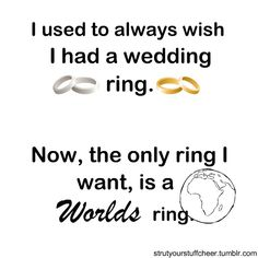 Madison's cheerleading confessions. I want a worlds ring! !
