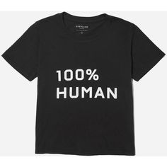 Everlane Women's 100% Human Box-Cut T-Shirt in Medium Print (68 BRL) ❤ liked on Polyvore featuring tops, t-shirts, shirts, print t shirts, t shirt, boxy tops, boxy t shirt and print tees