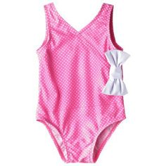 Circo® Infant Toddler Girls' Polka Dot 1-Piece Swimsuit $6 clearance Target on line
