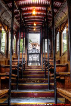 The Angels Flight tramway, Bunker Hill, Los Angeles, California by Bob Kent