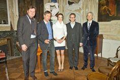 Salonière Maja Fluri mit den Künstlern Visual Arts, Literature