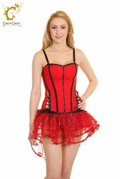 Crazy Chick Red Black Corset With Stripes Red And Black Corset, Red Black, Christmas Accessories, Waist Cincher, Hot Pants, Santa Hat, Leg Warmers, Tights, Stripes
