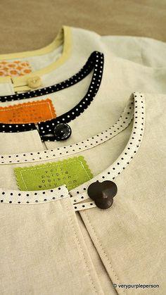 Beautiful bindings: So much nicer than a neck facing
