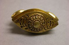 """Ring with Almond-Shaped Bezel with """"Sri"""" Inscription  Period: Central Javanese period Date: Second half of the 8th–second half of the 10th century Culture: Indonesia (Java) Medium: Gold"""