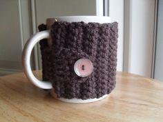 crocheted coffee mug cozy tea mug cozy mug by TheLeftHandedHooker, $11.00