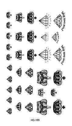 Binary shop stall selling explosion models waterproof tattoo sticker for male and female small fresh small crown pattern HC1165 #>=#>=#>=#>=#> Click on the pin to check out discount price, color, size, shipping, etc. Save and like it!