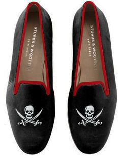 Custom made skull slippers from Stubbs & Wootton.