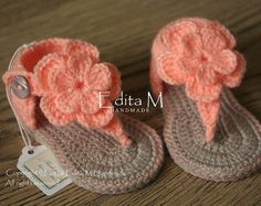 Crochet baby sandals gladiator sandals baby slippers