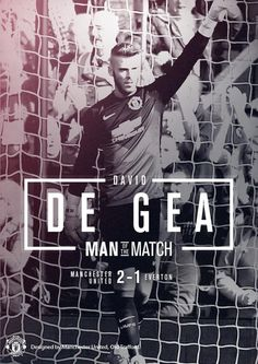 De Gea's world class performance sealed three points for United with 3 extraordinary saves, and earnt him the Man of the Match award. Football Love, Football Team, Man Of The Match, The Man, Manchester United Football, Red Army, Old Trafford, Man United, Everton