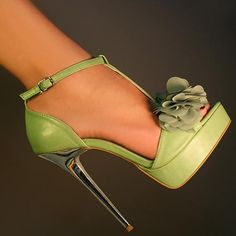 green, sexy heels!