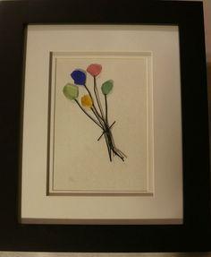 Beach Glass Art - Balloons! - Multi Color