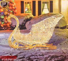 Christmas Sleigh Decoration Elegant White Glittering Lighted Yard Holiday Xmas #ChristmasSleighDecoration