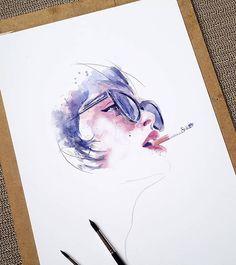 WANT A SHOUTOUT ?   ! ᴄʟɪᴄᴋ ʟɪɴᴋ ɪɴ ᴍʏ ʙɪᴏ ᴛᴏ ʙᴇ ғᴇᴀᴛᴜʀᴇᴅ !     Tag #DRKYSELA   Repost from @robertdean.art   Saturday scribble. @taylorlashae . . . . . . . #artstagram #art #portrait #taylorlashae #colors #love #aquarelle #ink #inkedgirls #smoke #LADYTEREZIE via http://instagram.com/zbynekkysela