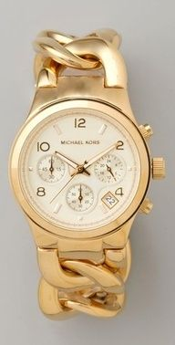 Michael Kors chain link watch""