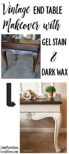 End Table Makeover-