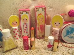 Avon Miss Lollypop Lot Vintage Tinkerbell Lot Vintage Child Lot 1970's Vanity | eBay got the lipstick in spotted tube from Aunt Dee when I was a child