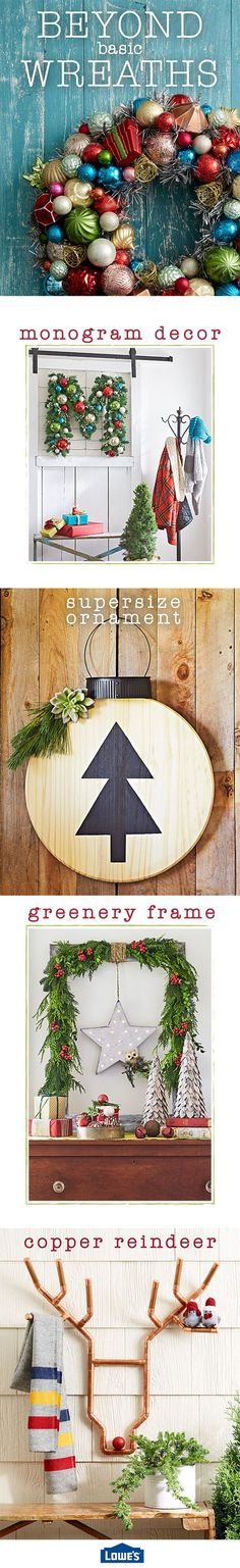 Christmas wreaths come in all shapes and sizes. If traditional greenery is not your style, get creative with unconventional DIY wreath ideas. This year, deck your halls, walls, or doors with a wreath that is anything but basic.