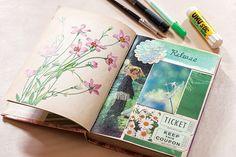 Art collage journal