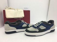 Salvatore Ferragamo Marat Sneaker Nero Moth Rope Men's Lace Up Shoes 12 D / M