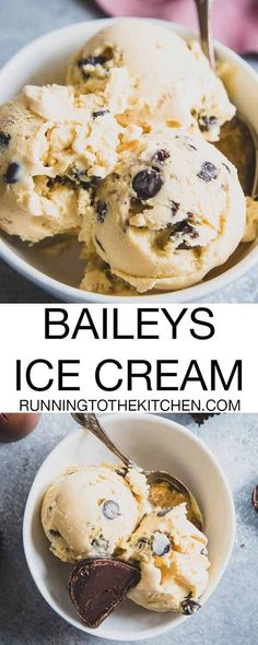 homemade Baileys ice cream with just 7 simple ingredients for a decadent boozy treat.Make homemade Baileys ice cream with just 7 simple ingredients for a decadent boozy treat. Baileys Irish Cream, Homemade Baileys, Homemade Ice Cream, Homemade Icecream Recipes, Homemade Vanilla, Ice Cream Desserts, Frozen Desserts, Ice Cream Cupcakes, Mint Chocolate Chip Ice Cream Recipe