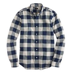 Slim vintage oxford shirt in navy gingham