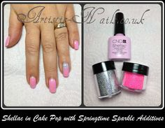 CND Shellac in Cake Pop with springtime additives