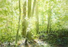 Spring watercolor picture album Spring - AbeToshiyuki watercolor gallery