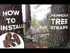 View a video guide to install tree straps. Hang your hammock between two trees safely without harmful drilling or mounting.