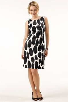 Roman Originals - Womens Ivory Shift Dress with Large Contrasting Black Spots - Ladies - Black and WhiteSize 22 Roman Originals, http://www.amazon.co.uk/dp/B006X0VSZW/ref=cm_sw_r_pi_dp_jL.yrb12H2H3T