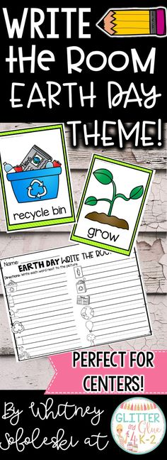 This activity will make a fun addition to your literacy centers! Students will move around the room to record the words! Keywords: write the room, literacy centers, vocabulary, intervention, reading, kindergarten, first grade, center ideas, ELA, earth day centers, earth day theme, April