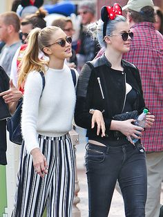 Star Tracks: Tuesday, March 25, 2014 | KIDDING AROUND | Teen models Ireland Baldwin and Gigi Hadid (daughter of Real Housewives of Beverly Hills star Yolanda Foster) are linked in during a day trip to Disneyland in Anaheim, Calif., on Monday.