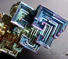 Bismuth crystals from supercooling. One of my fav acts of Mother Nature herself.