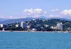 Sotchi: ville balnéaire au bord de la mer Noire.