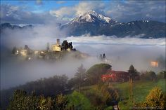 Barga, medieval town in heart of the Serchio river valley, Lucca, Tuscany
