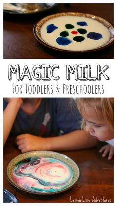 Simple Science for Toddlers and Preschoolers   Magic Milk with Dishsoap #Palmolive25Ways  #shop